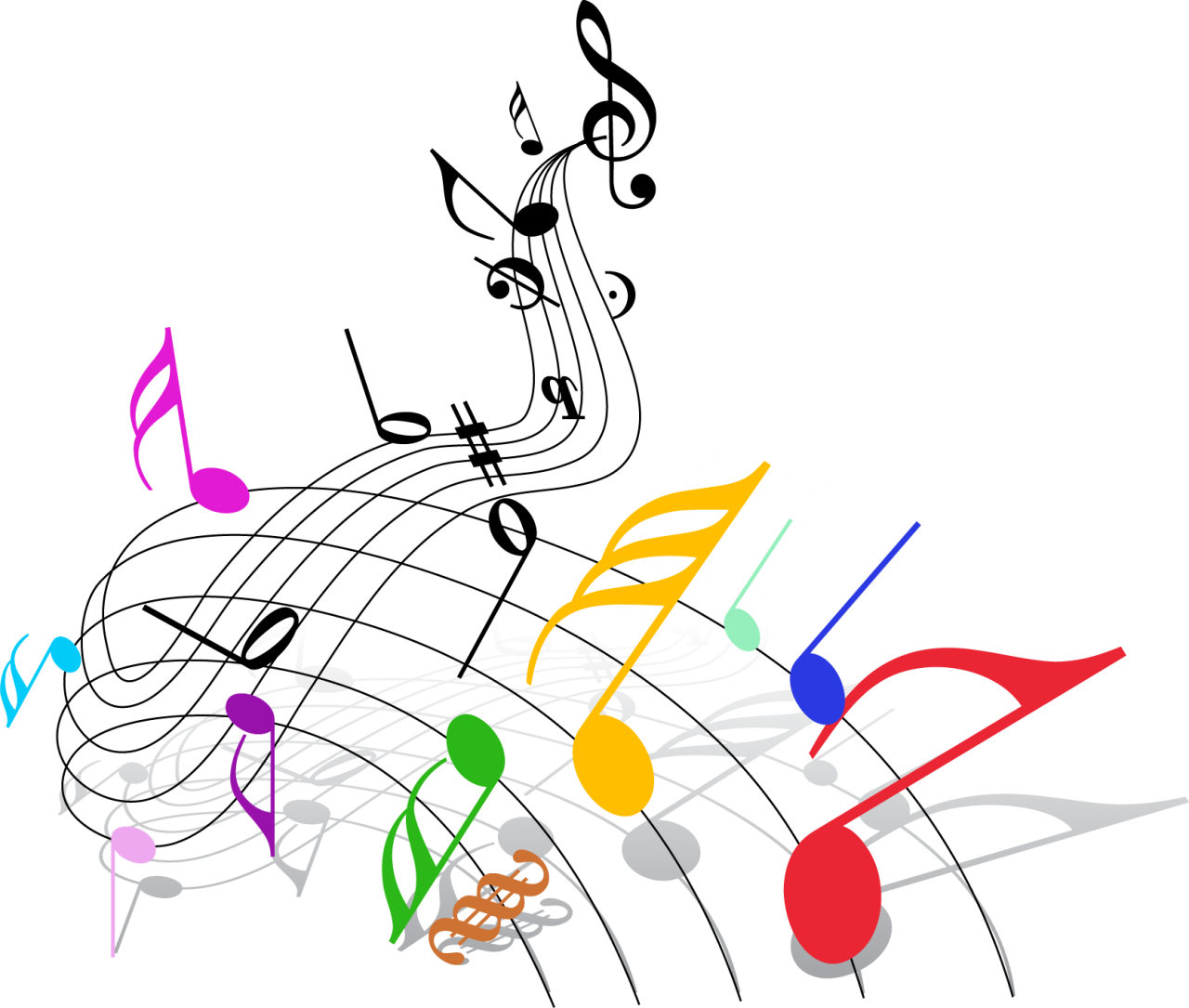 Clipart music abstract. Musical note theatre clip