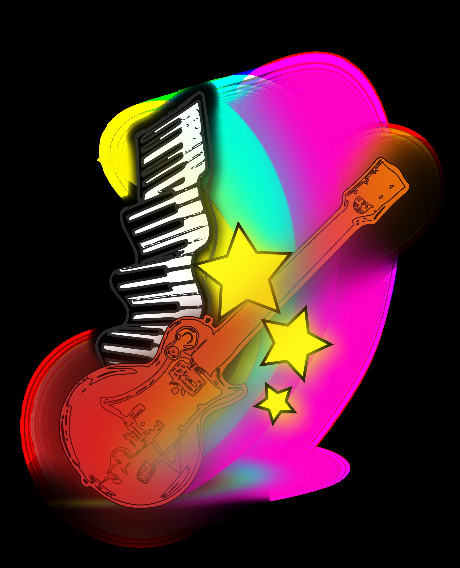Clipart guitar star. Music