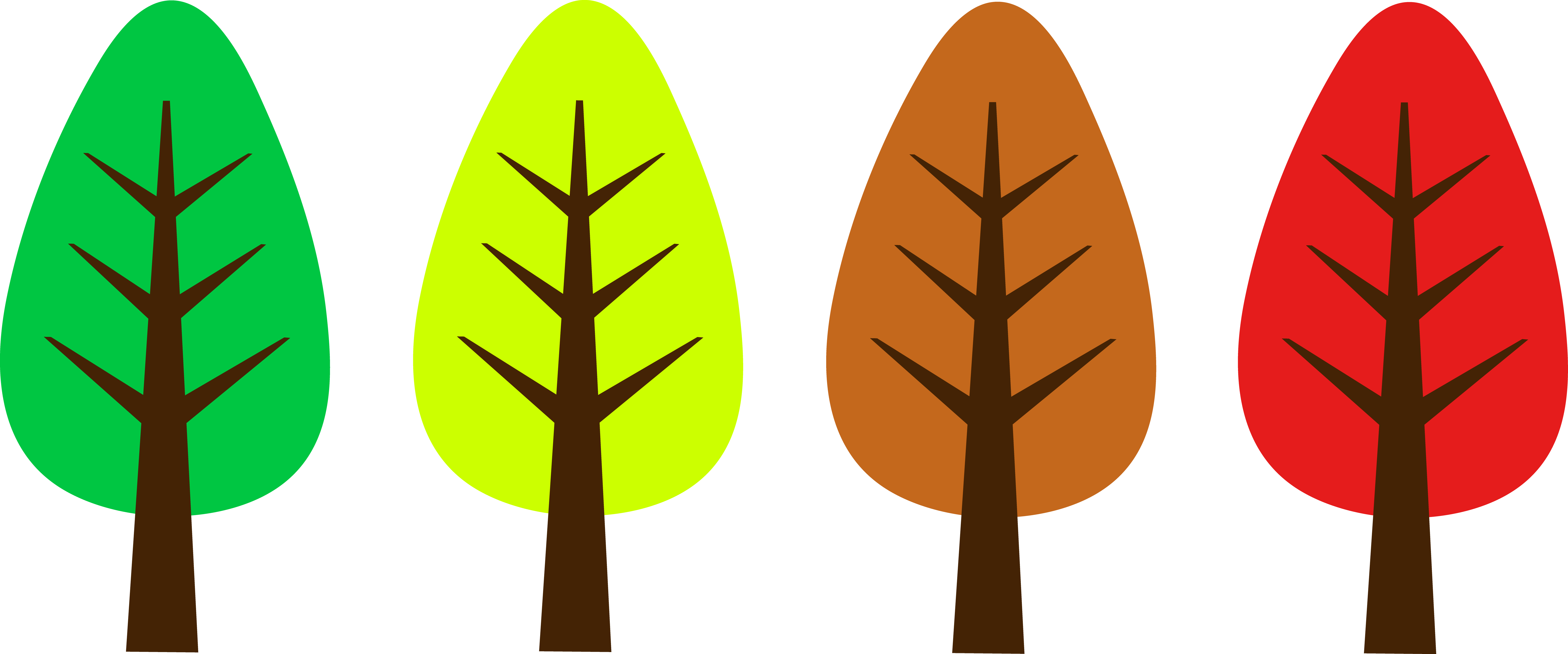 Cute simple tree free. Clipart designs nature