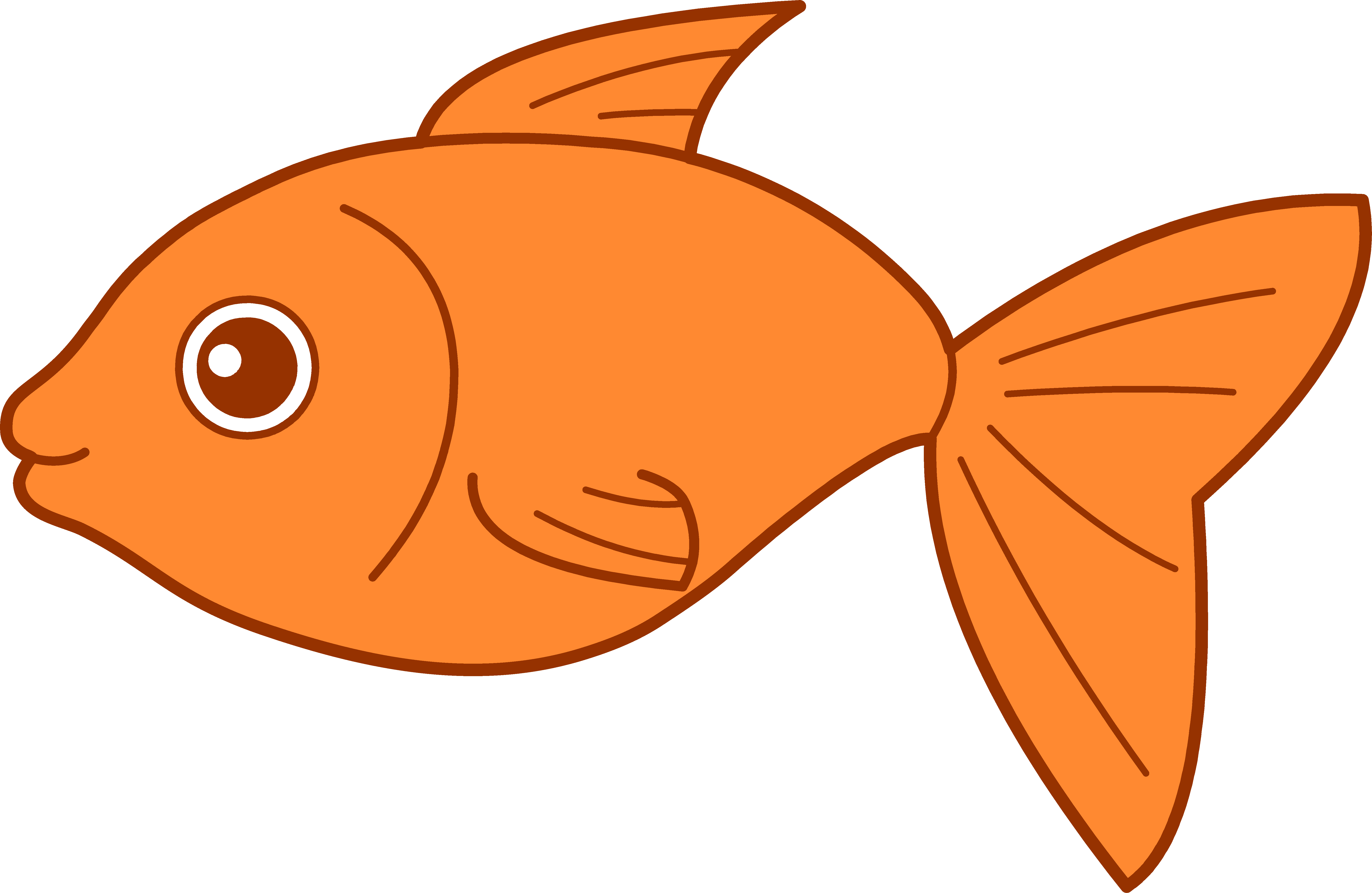 Happy goldfish design free. Website clipart vector