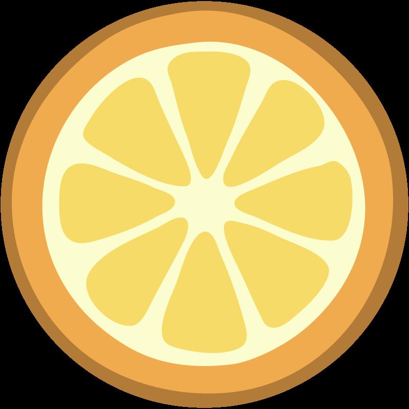 Orange halved flat design. Lemons clipart basket mango