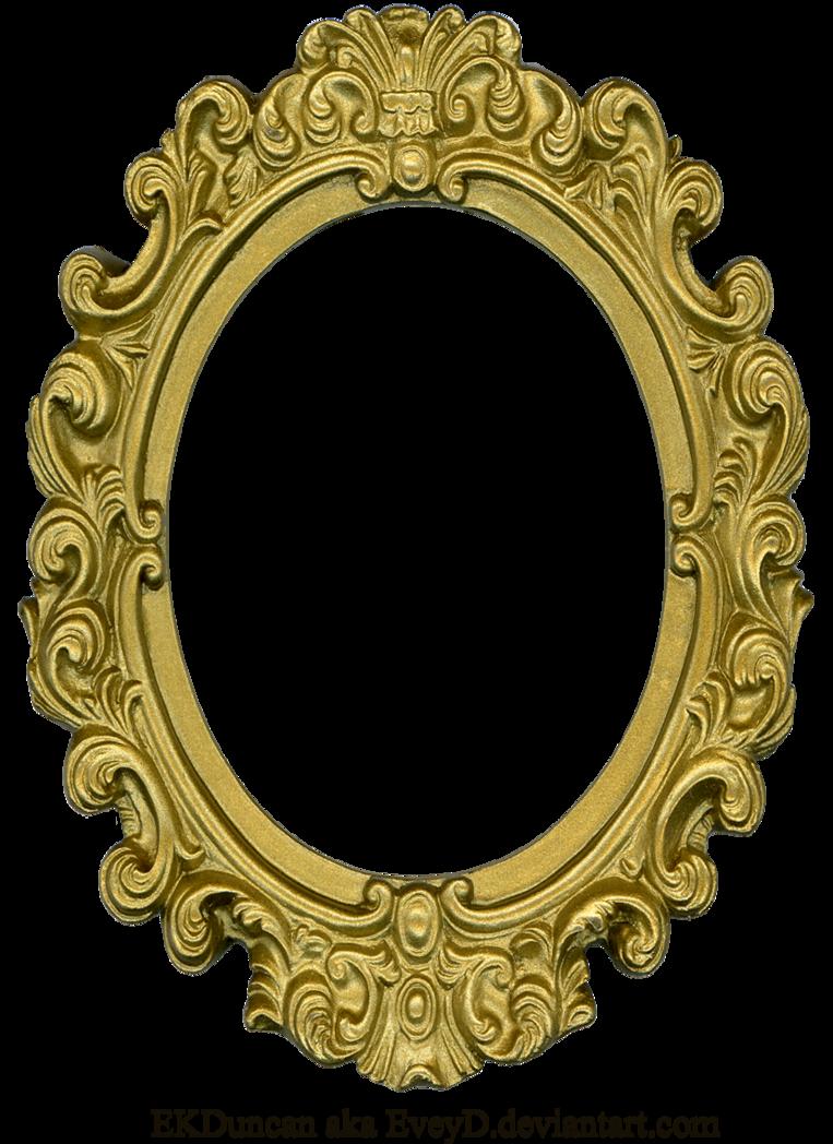 Ornate gold by eveyd. Oval frame png