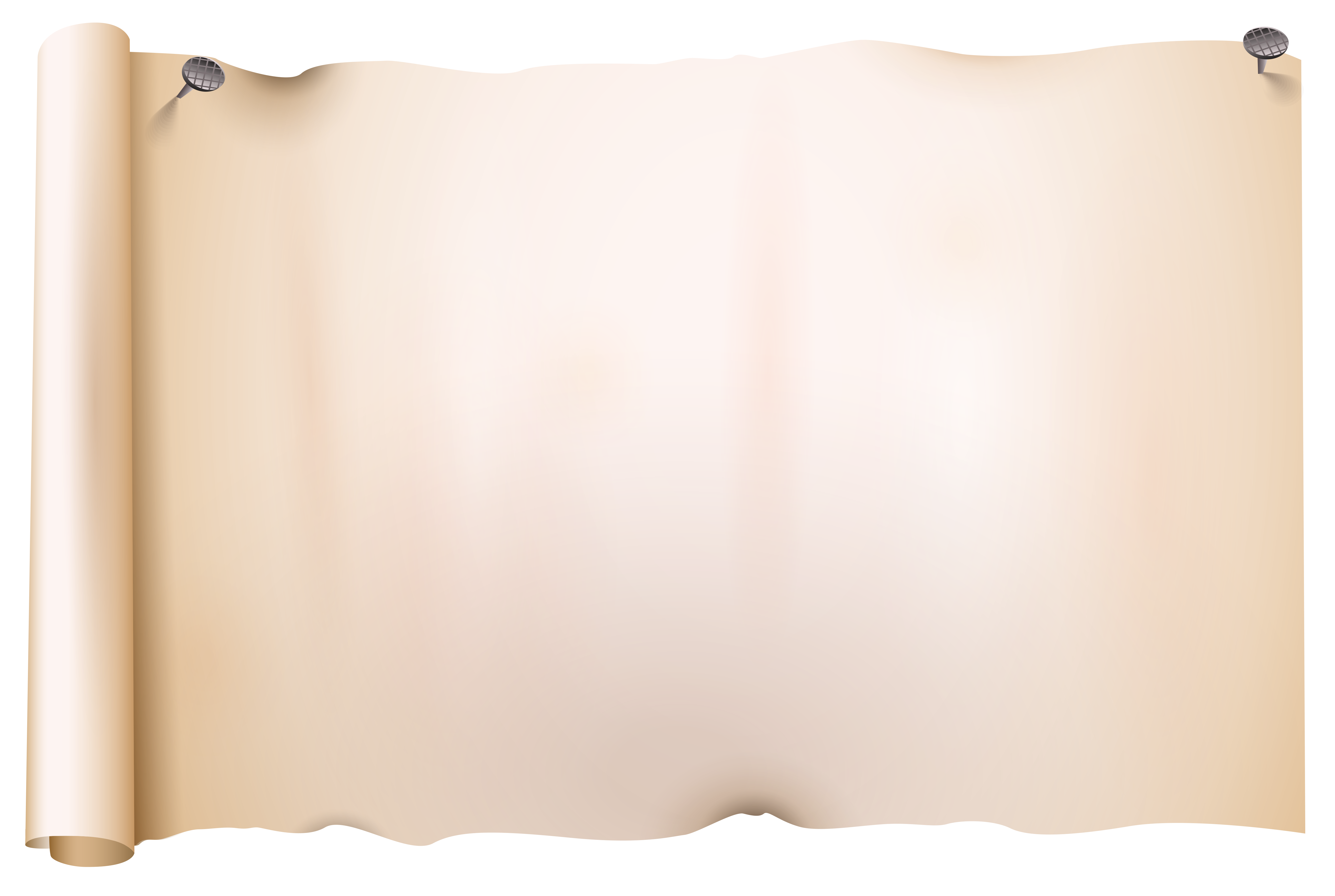Old scroll png image. Clipart design paper