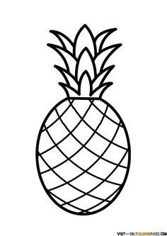 Tb on design free. Pineapple clipart line art