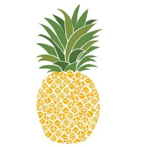 Pineapple clipart gold pineapple. Image love