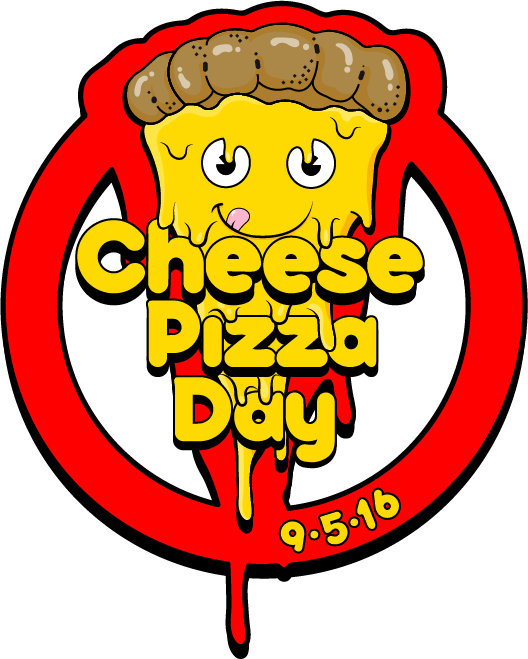 Cheese day logo design. Clipart halloween pizza