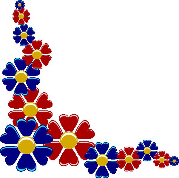 clipart flower row