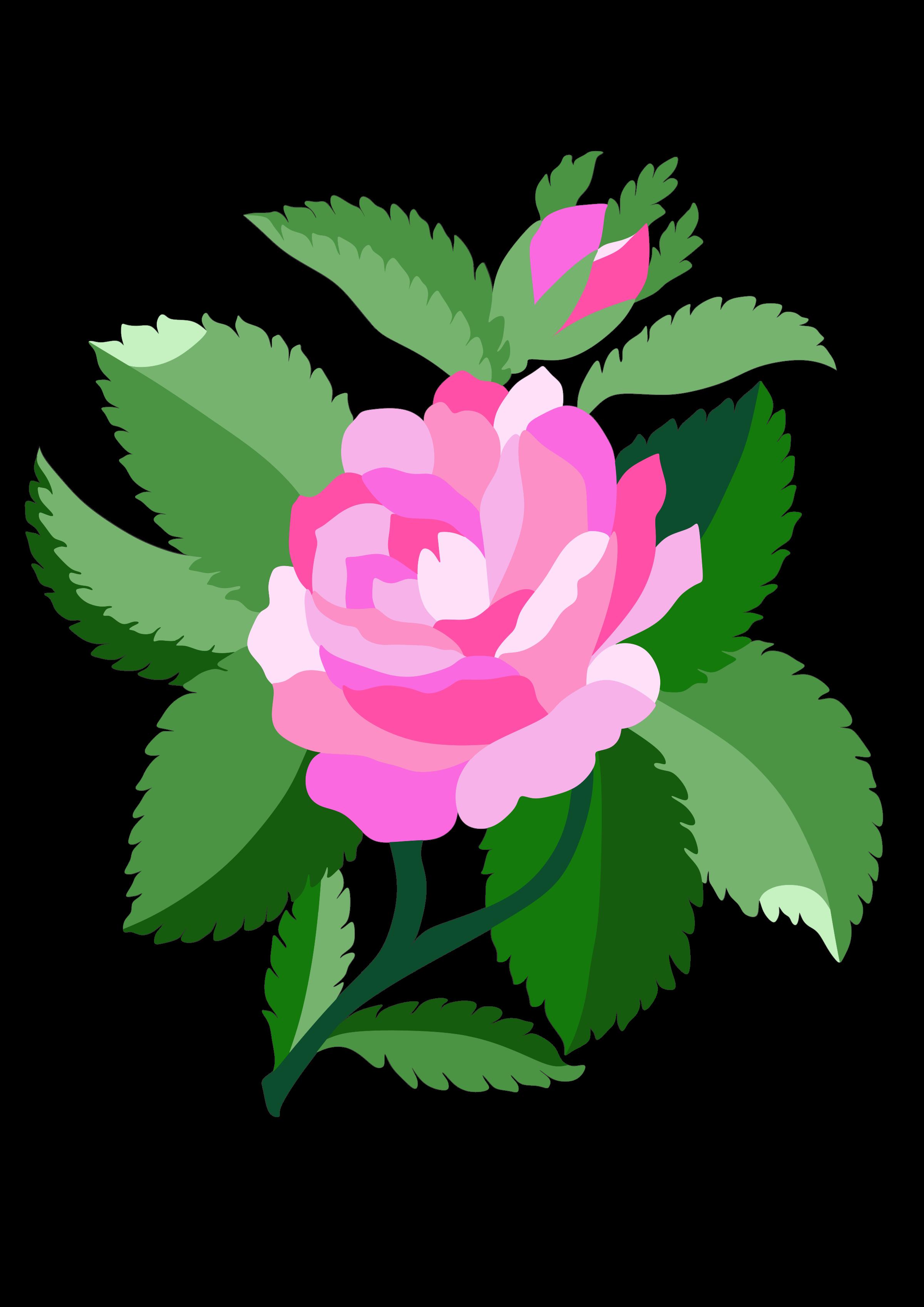 Clipart design rose. For damask big image