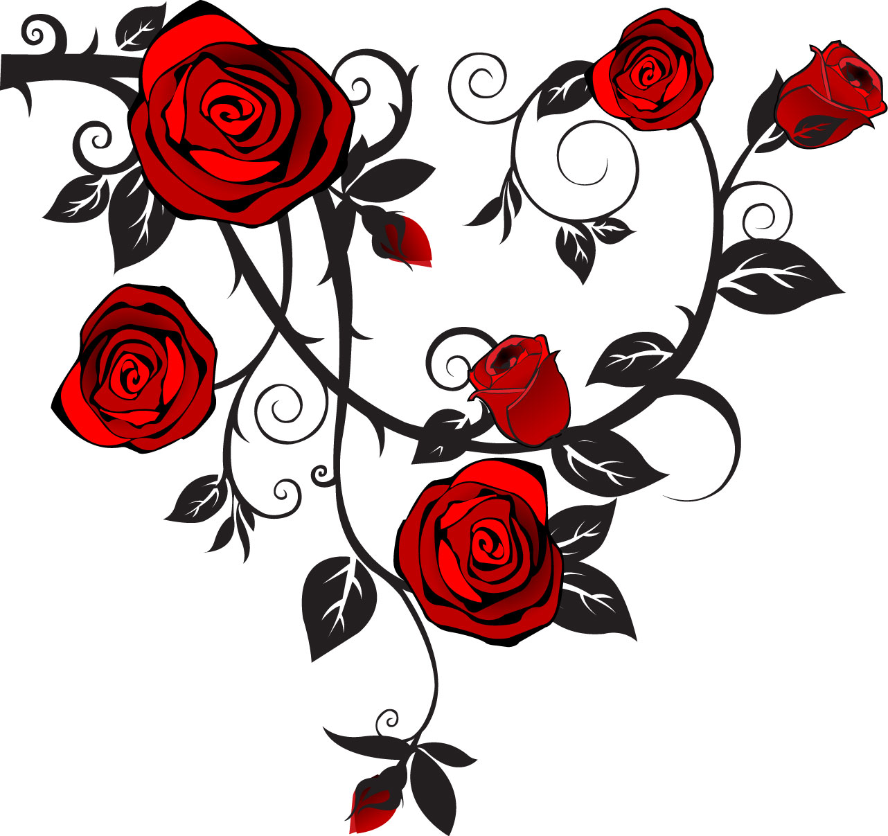 Free vine drawings download. Clipart rose vector