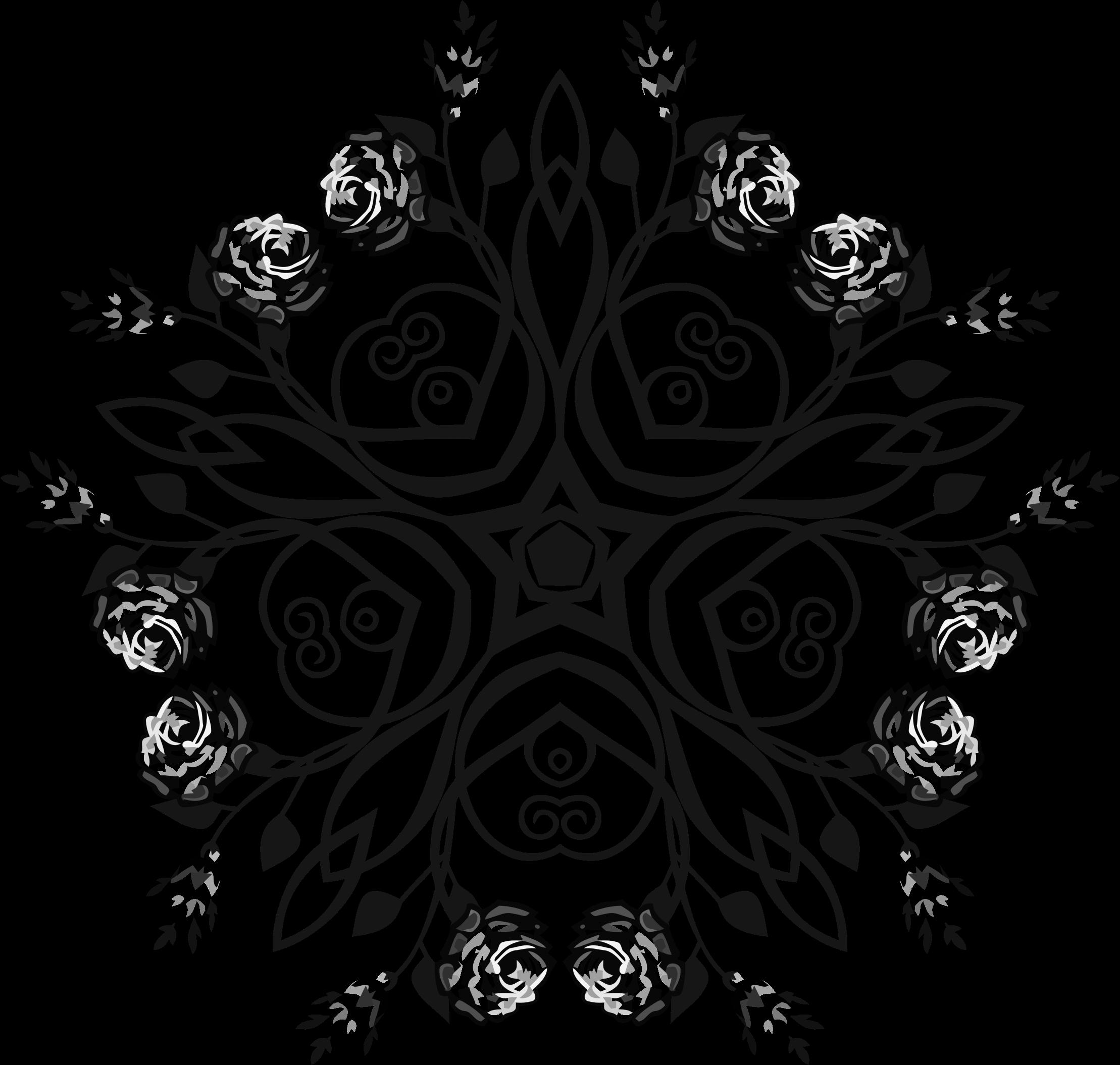 Floral flourish big image. Clipart design rose