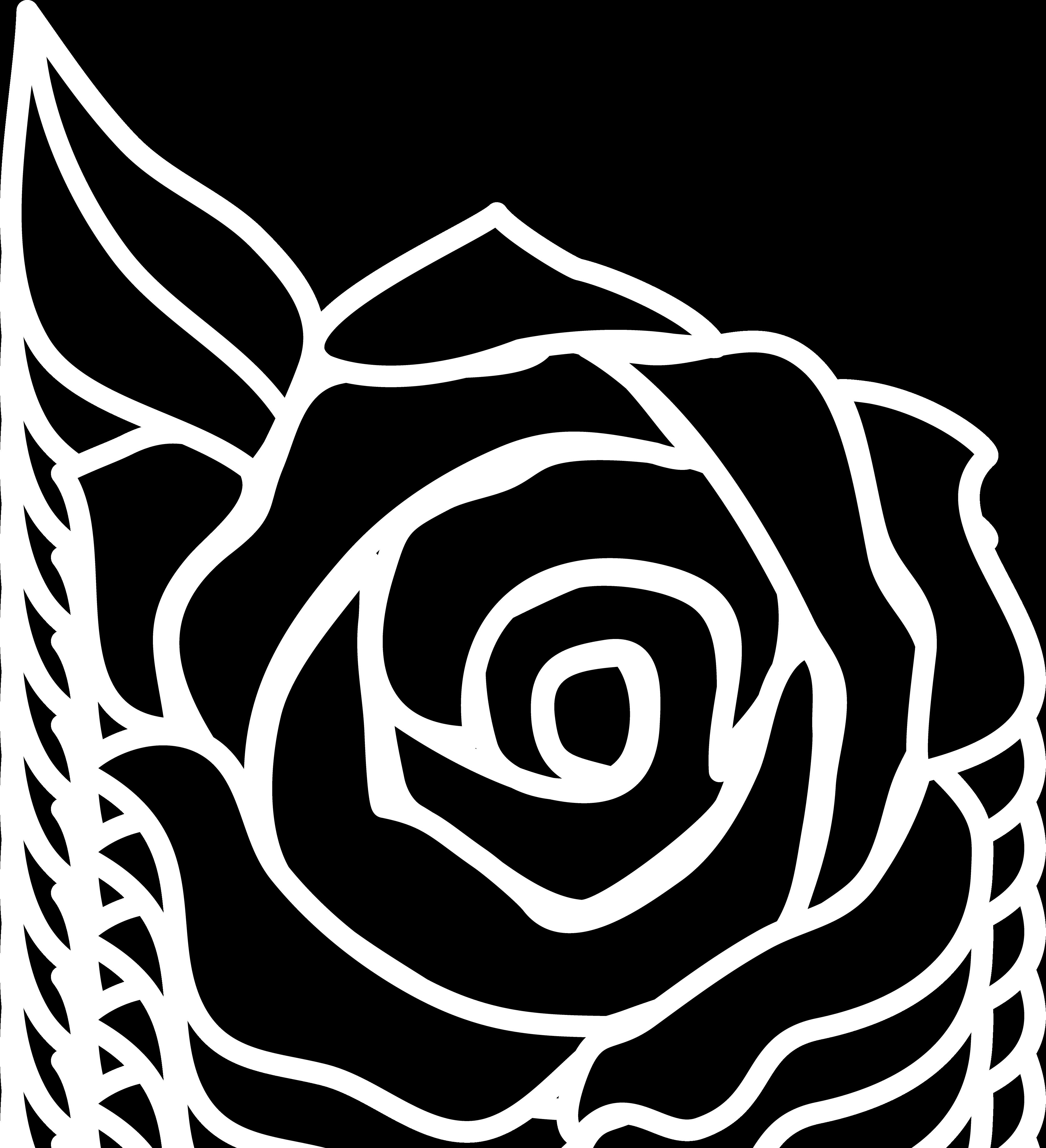 Horseshoe and rose vinyl. Flower clipart silhouette