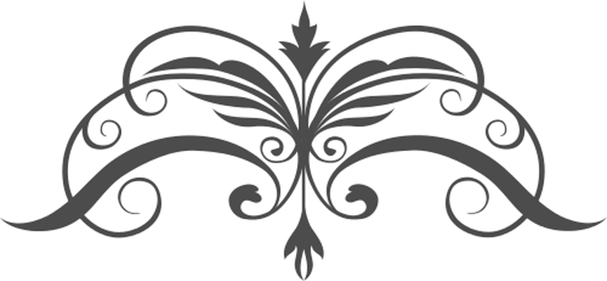 Butterfly black and white. Clipart design royal