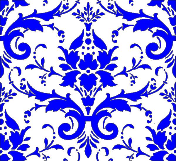 Clipart design royal. Blue damask clip art