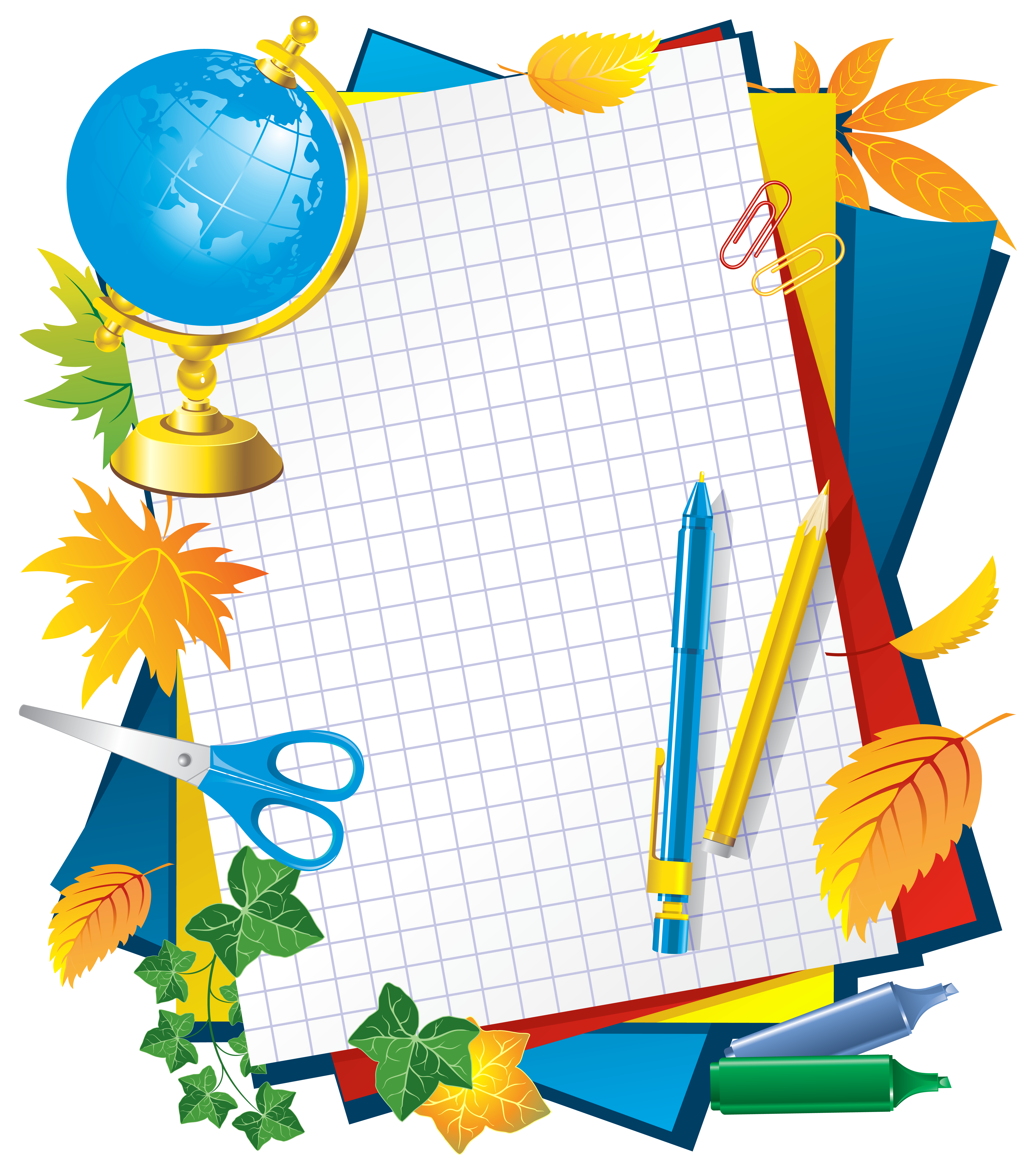 Frame clipart school. Decors png picture gallery