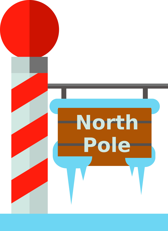 North pole clip art. Clipart designs signboard