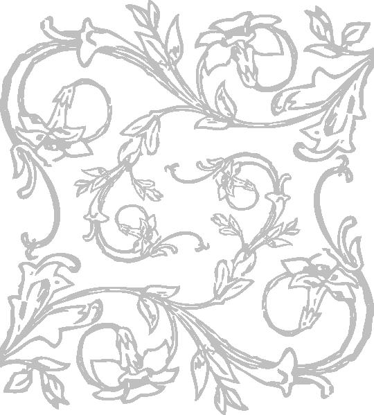 Floral clip art at. Clipart design silver