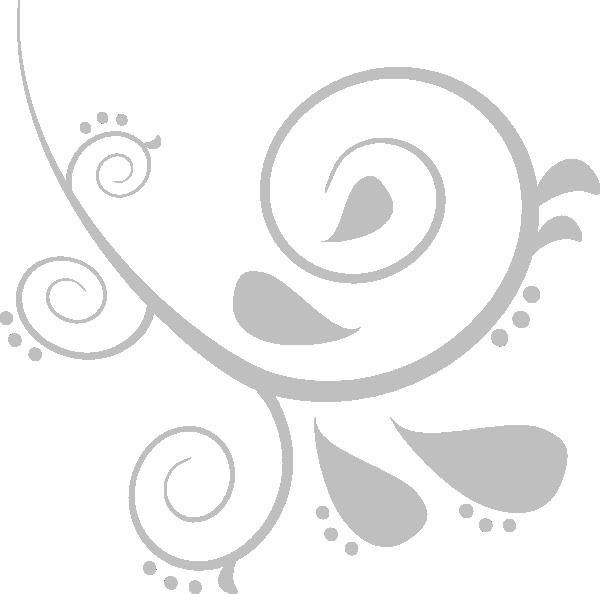 Clipart design silver. Swirl clip art at