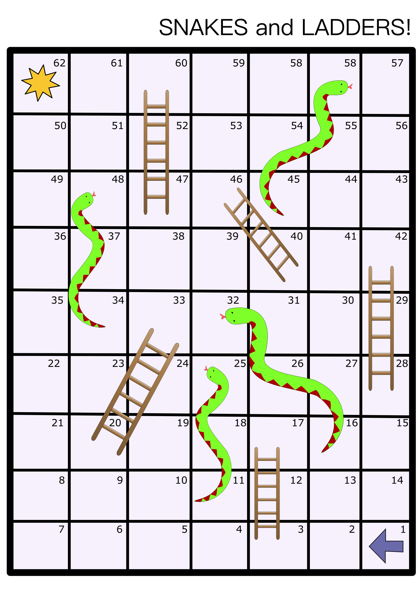 Snakes and ladders big. Game clipart board game