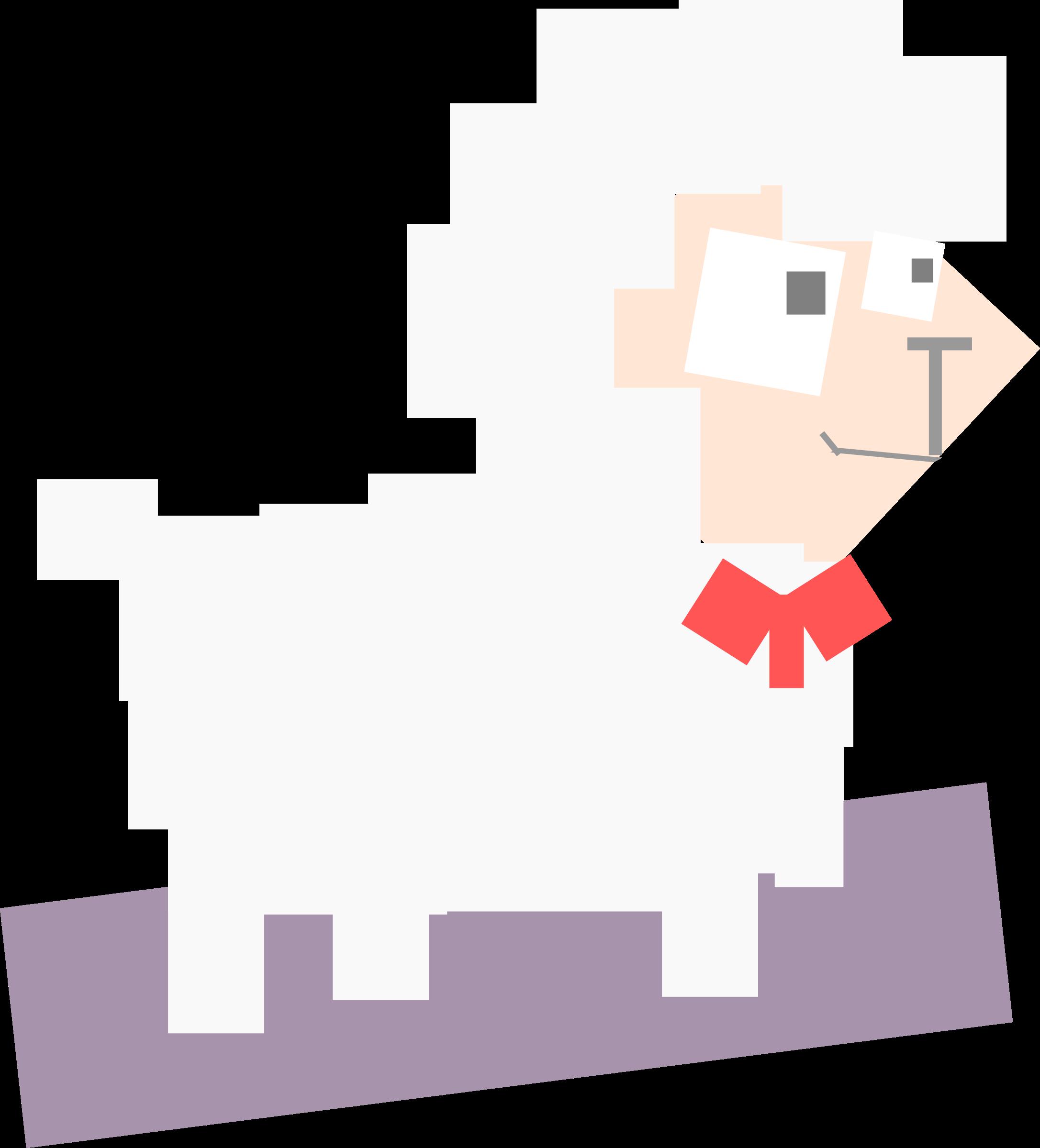 Animal sheep big image. Square clipart cartoon
