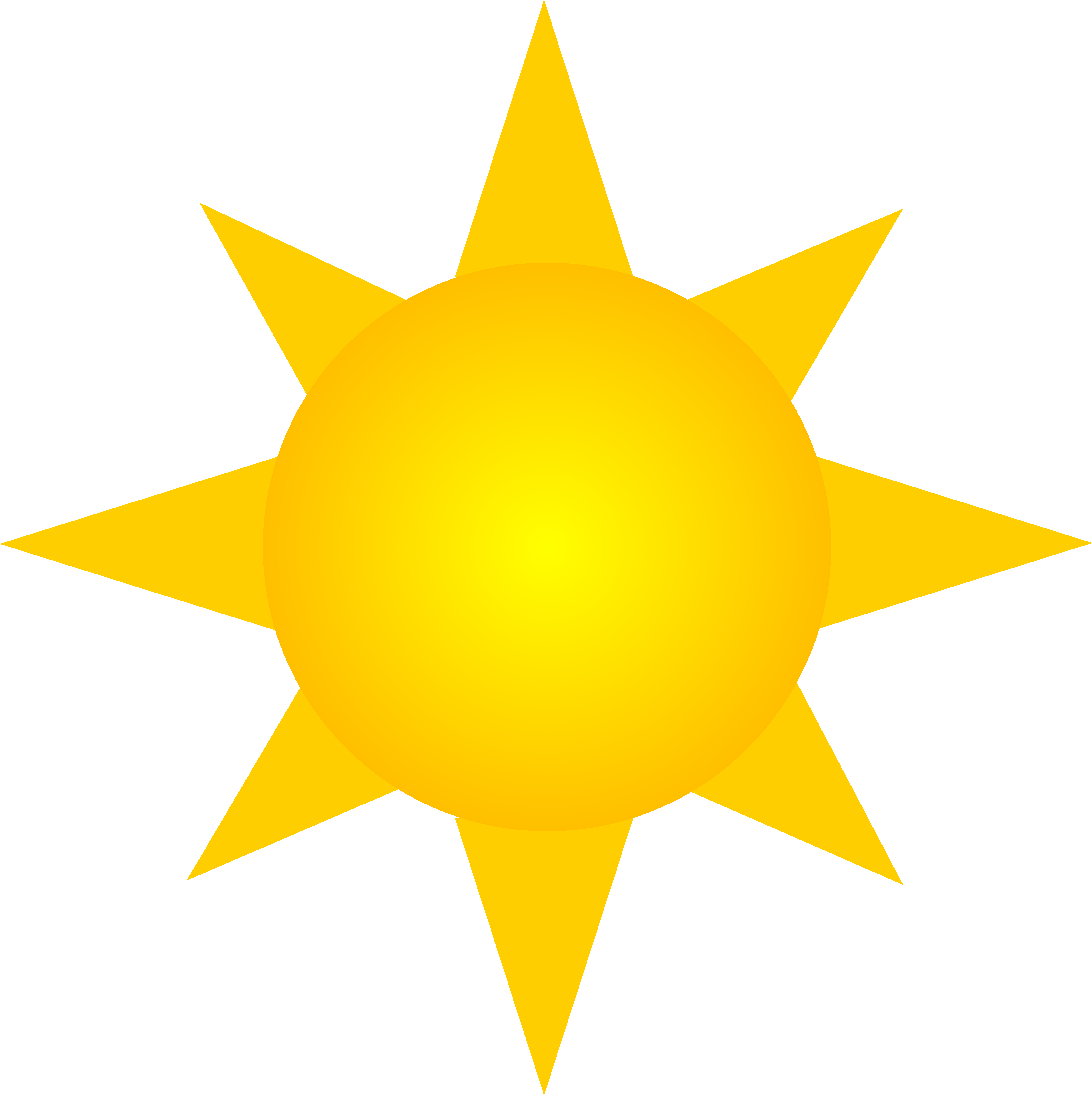 Clipart sunshine bright. Sun symbol version two