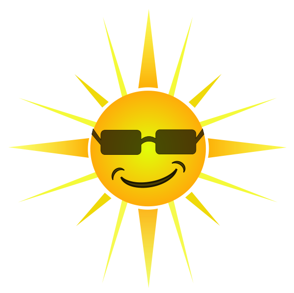 Small Happy Sun Clipart