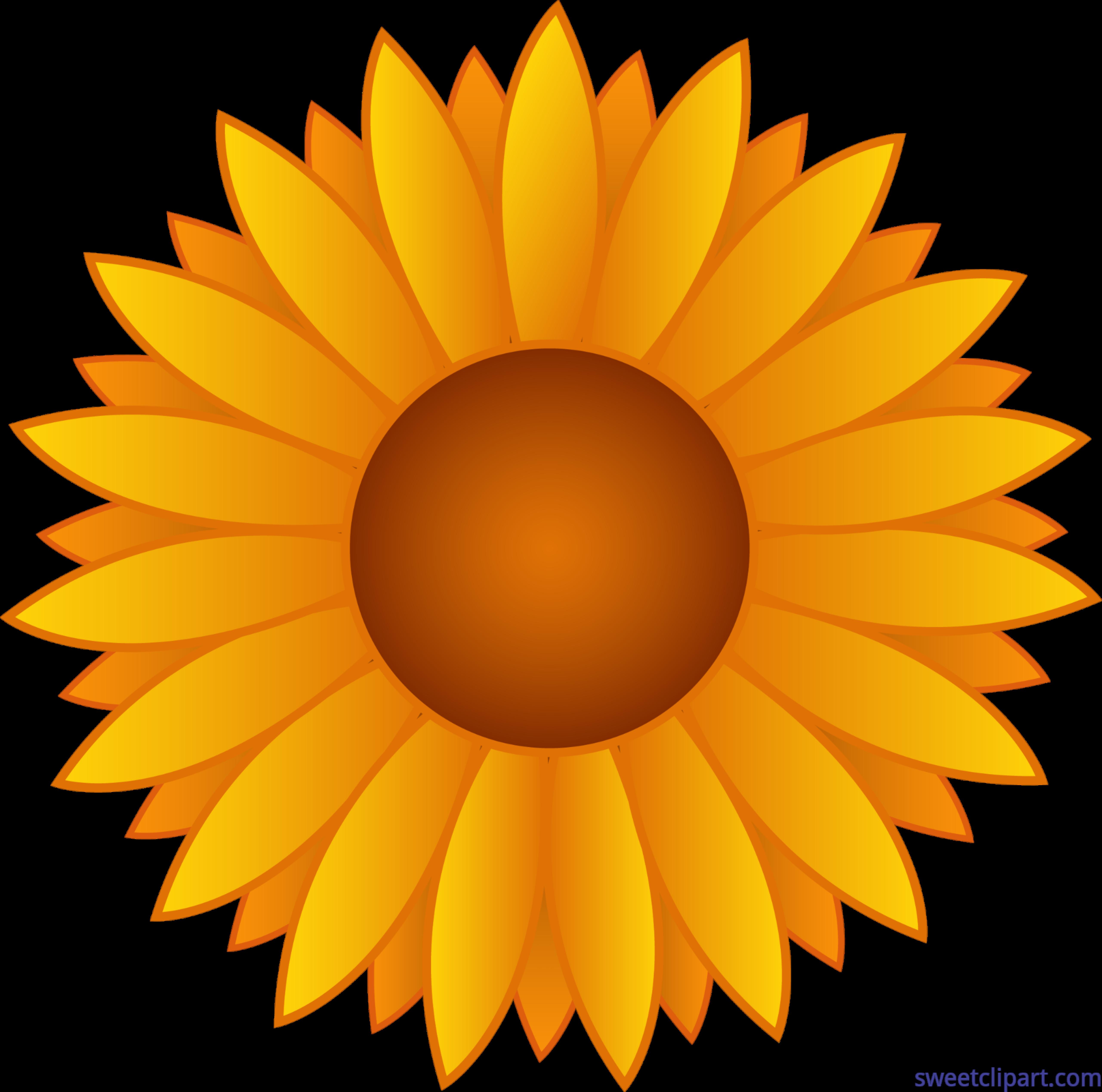 Flowers yellow clip art. Pink clipart sunflower