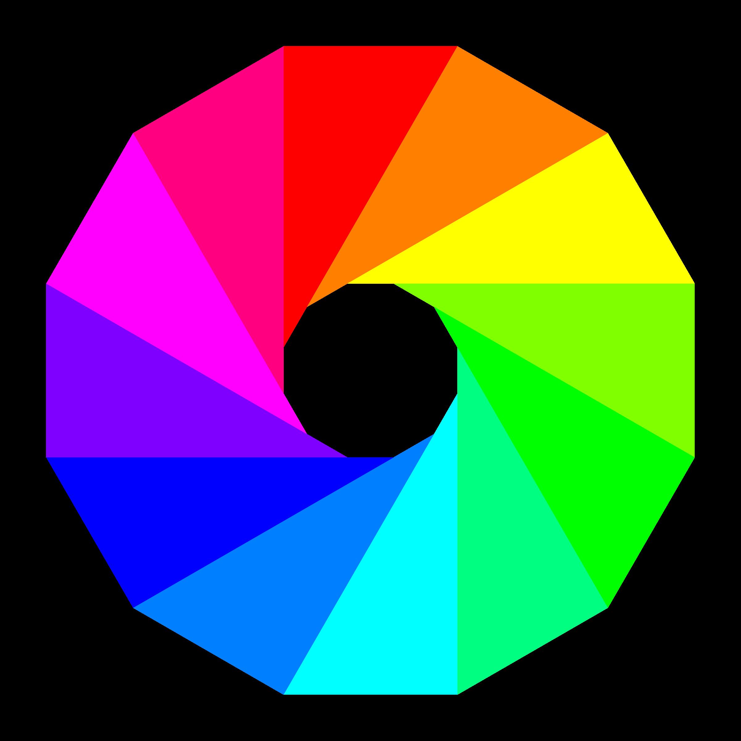 Half triangles dodecagon big. Wheel clipart animated