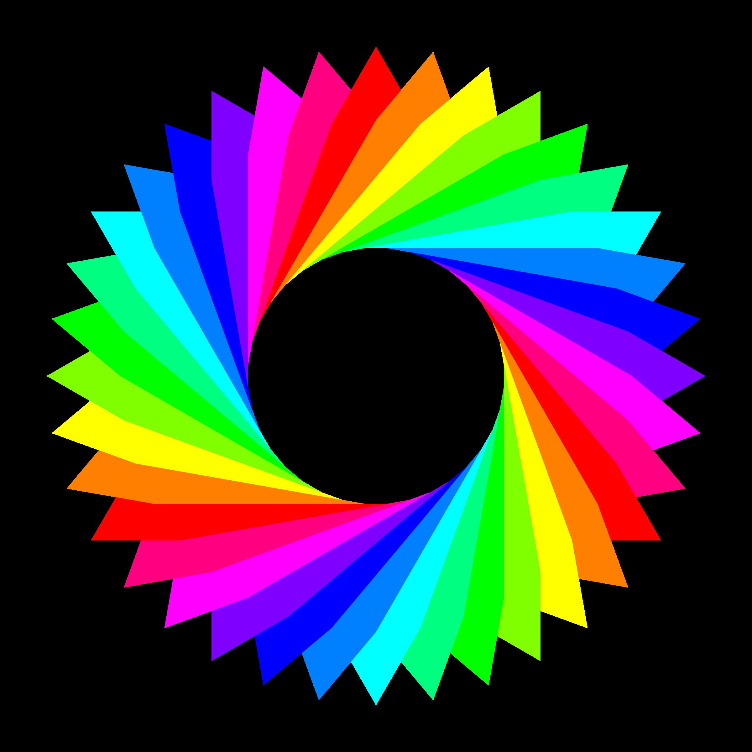 Color gram triangles big. Colors clipart design