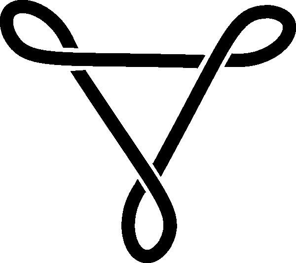 Celtic knotwork triangle clip. Filigree clipart simple