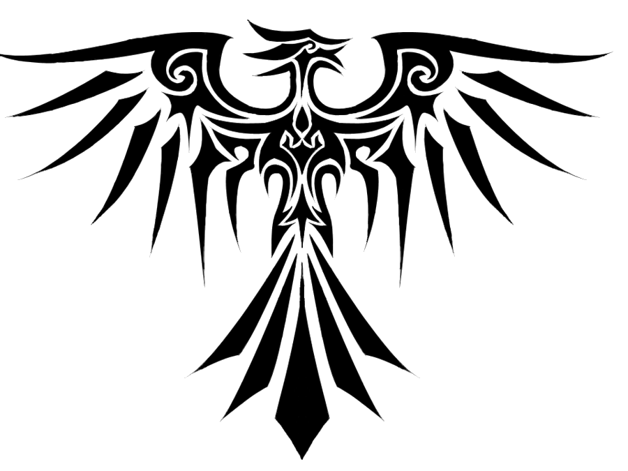 Insects clipart tribal. Eagle tattoo three isolated
