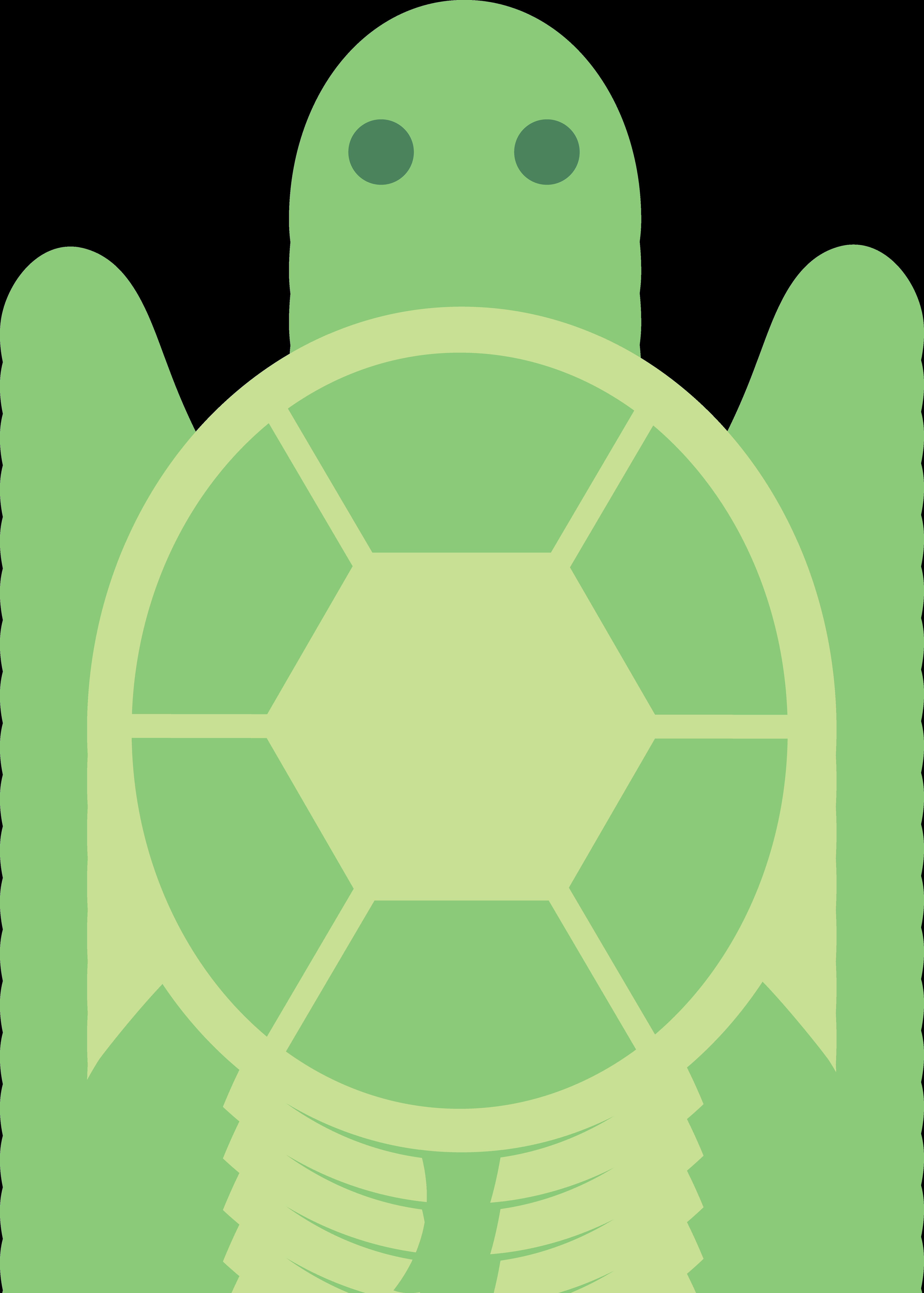 Cute green turtle clip. Shell clipart small