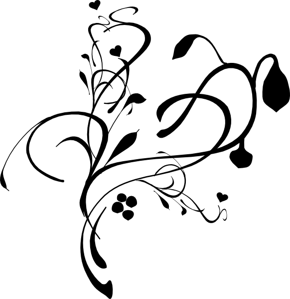 Clipart heart vine. Vines watermark clip art