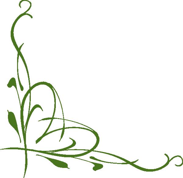 Clip art green at. Filigree clipart vine