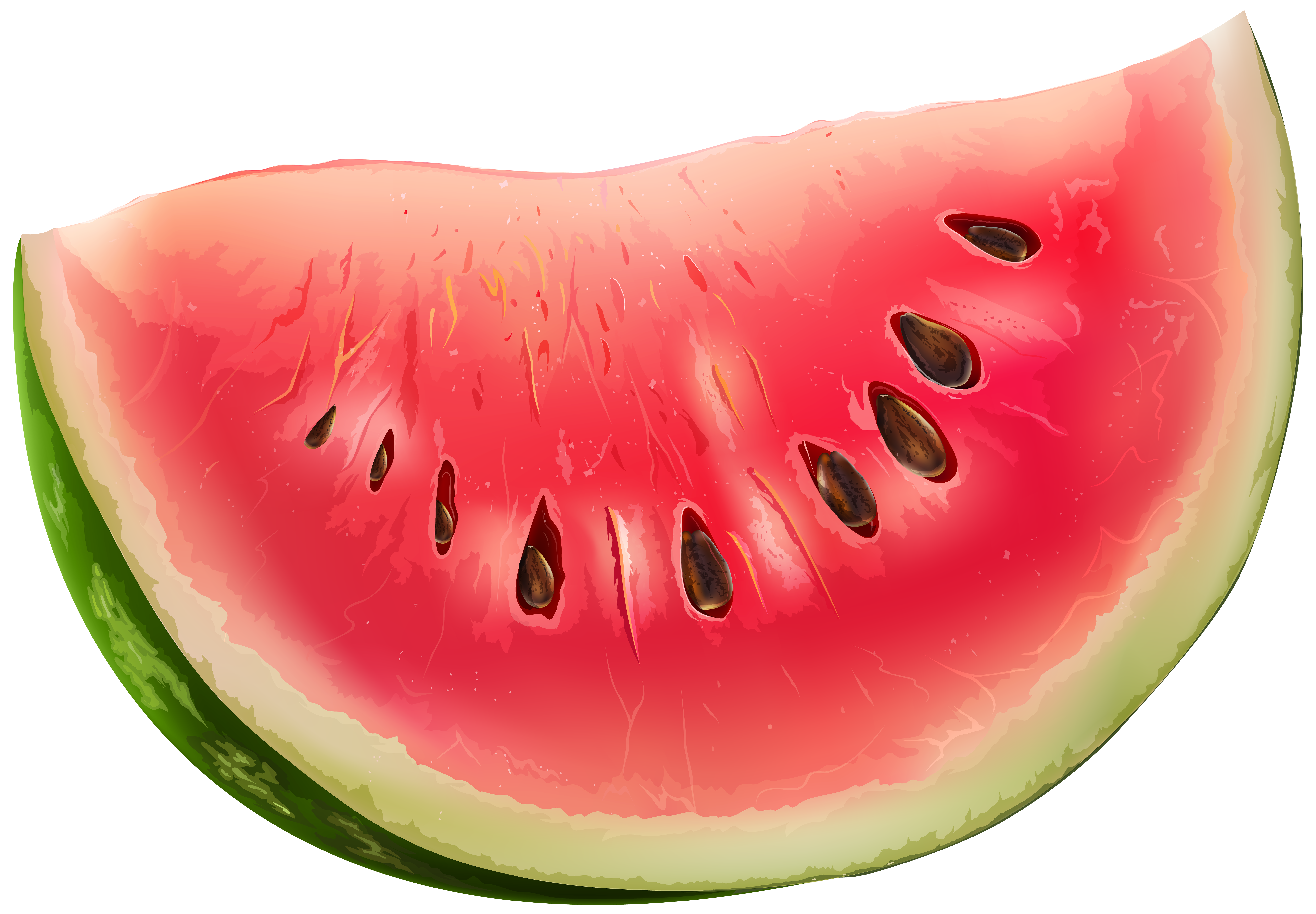 Slice png clip art. Watermelon clipart different fruit