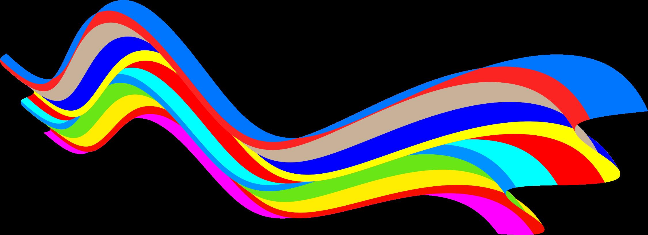 Waves clipart rainbow. Wave motif big image