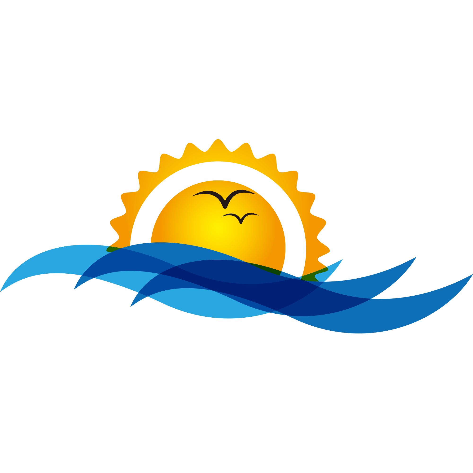 Sunset clipart sun rice. Bird sunrise wave clip