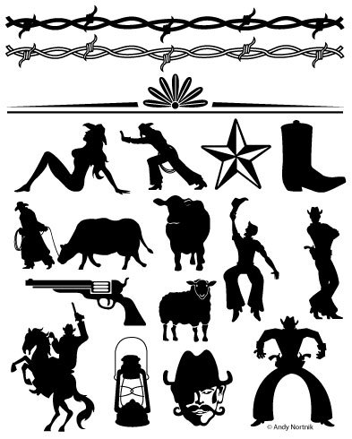 Clipart designs western. Clip art personal and