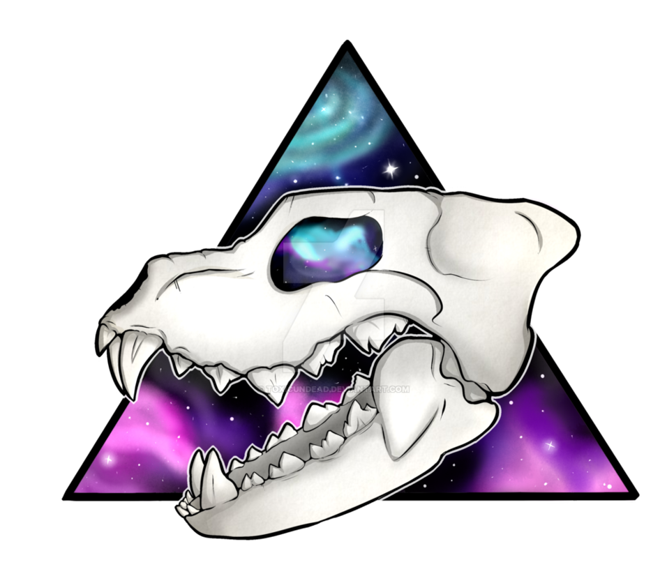 Wolf clipart galaxy. Skull design by toxicundead