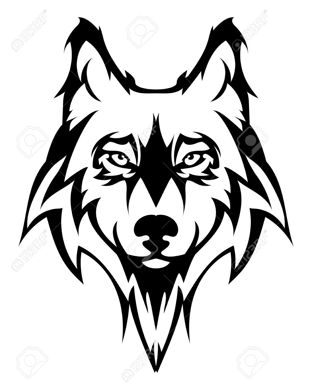 Free download best on. Wolf clipart face