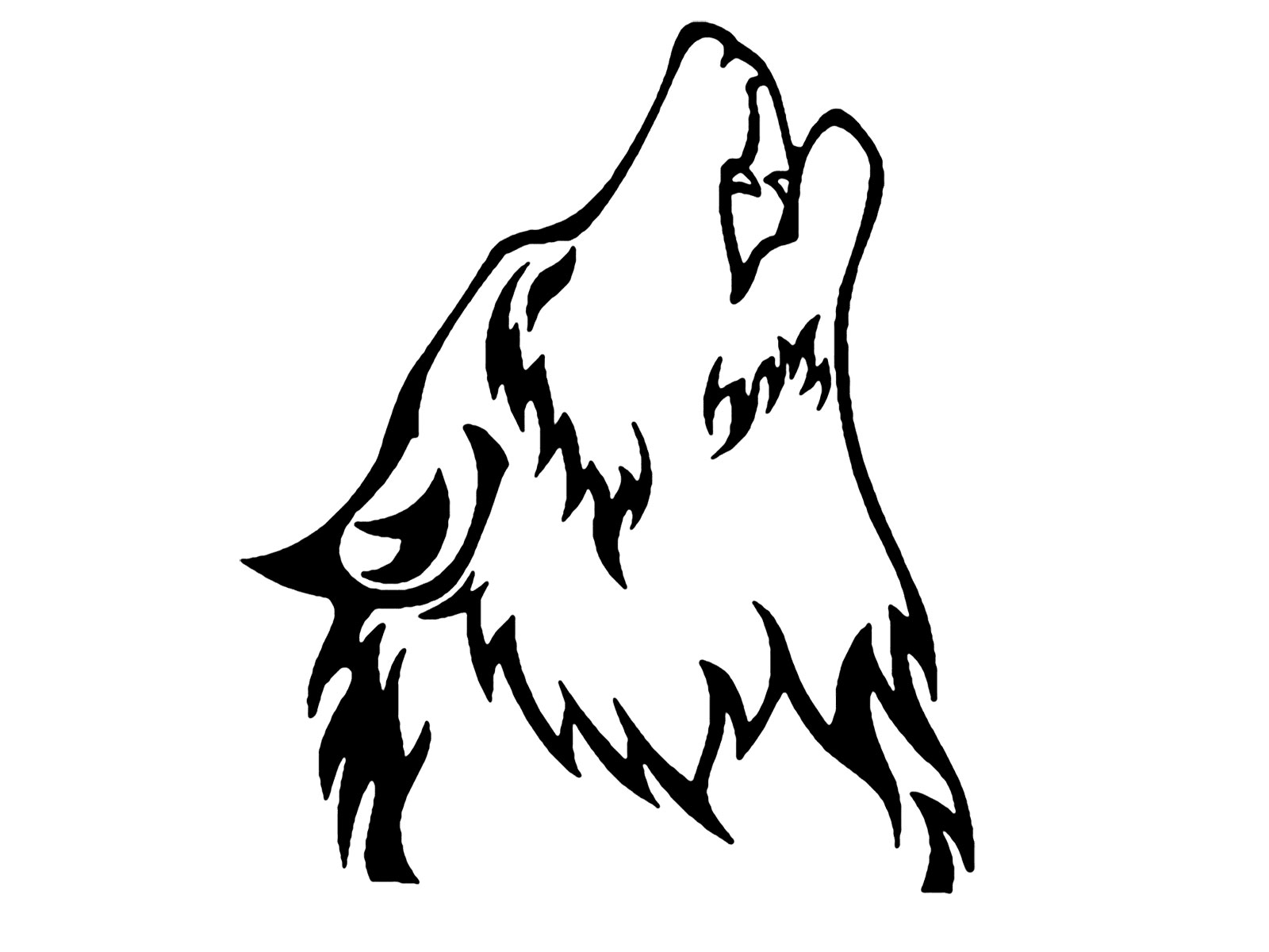 Free howling download clip. Wolf clipart public domain
