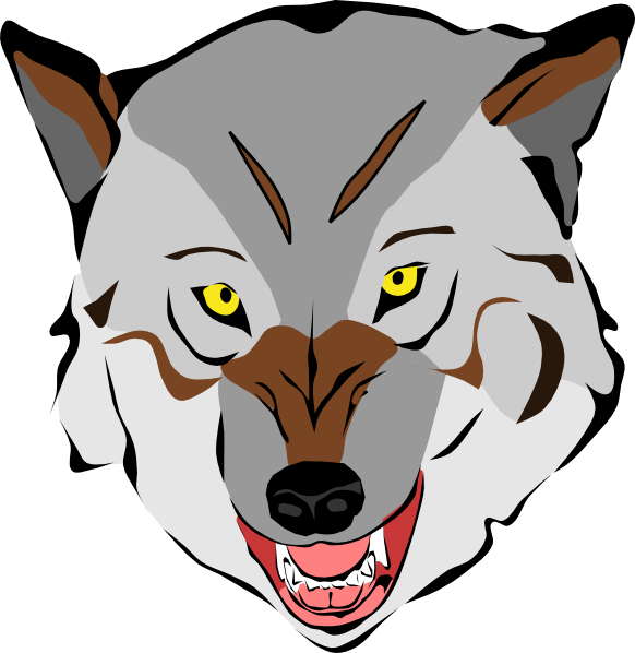 Wolves clipart werewolf. Wolf face at getdrawings