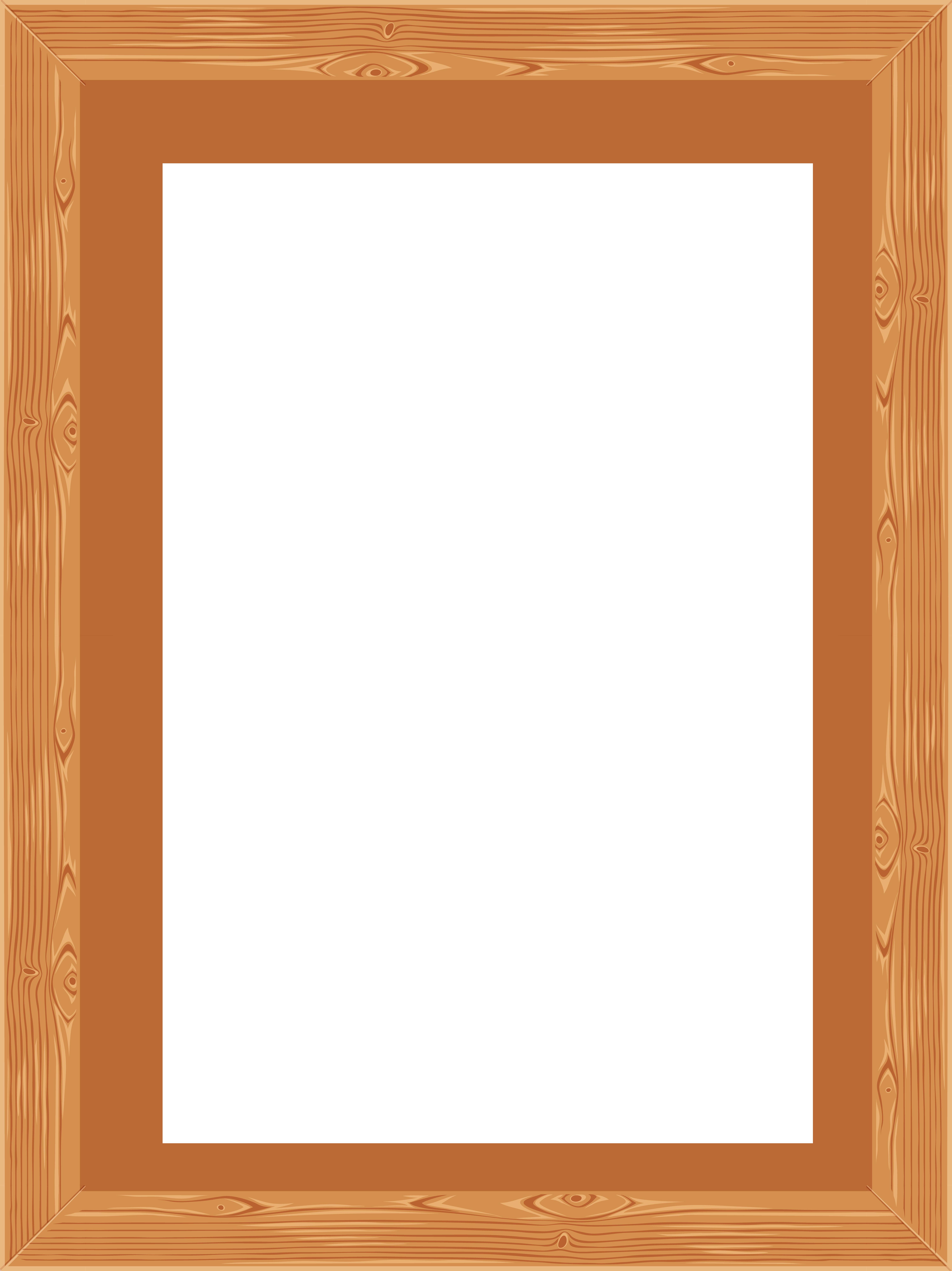 Wood border png. Transparent classic wooden frame