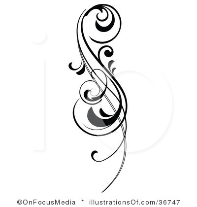Simple scroll design clip. Clipart designs