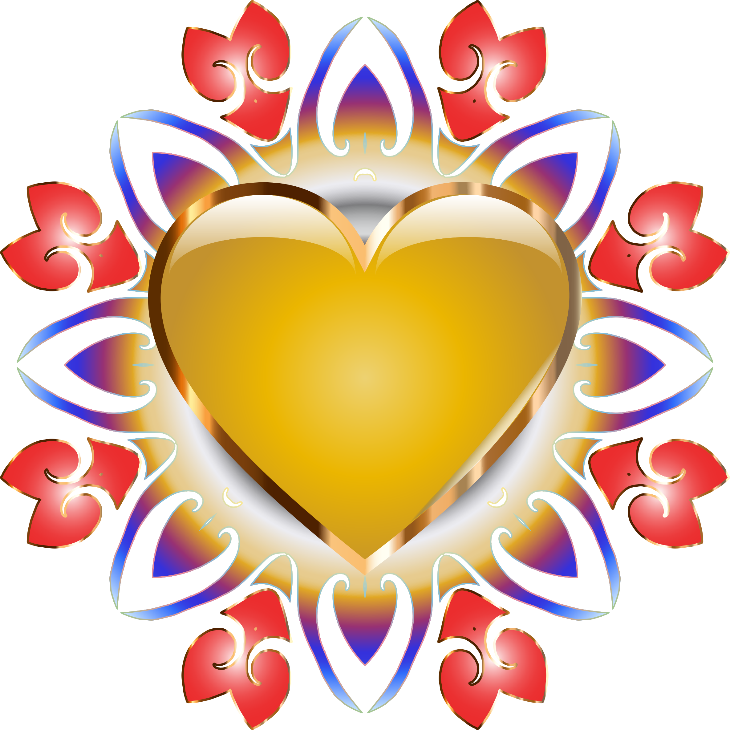 Clipart heart design. Abstract no background big