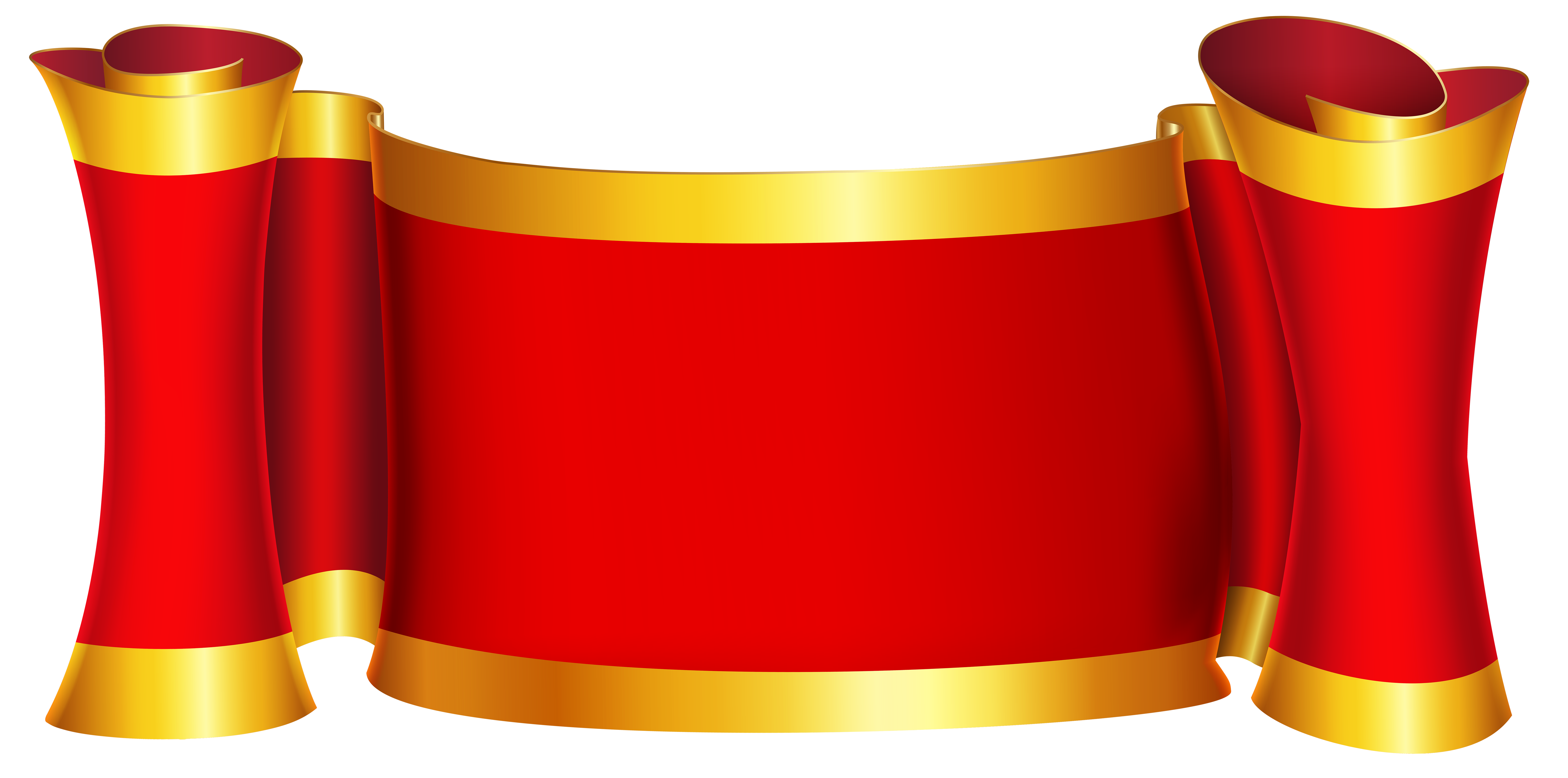 Red gold png clip. Clipart designs banner