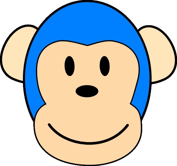 Blue designs clip art. Monkey clipart silhouette