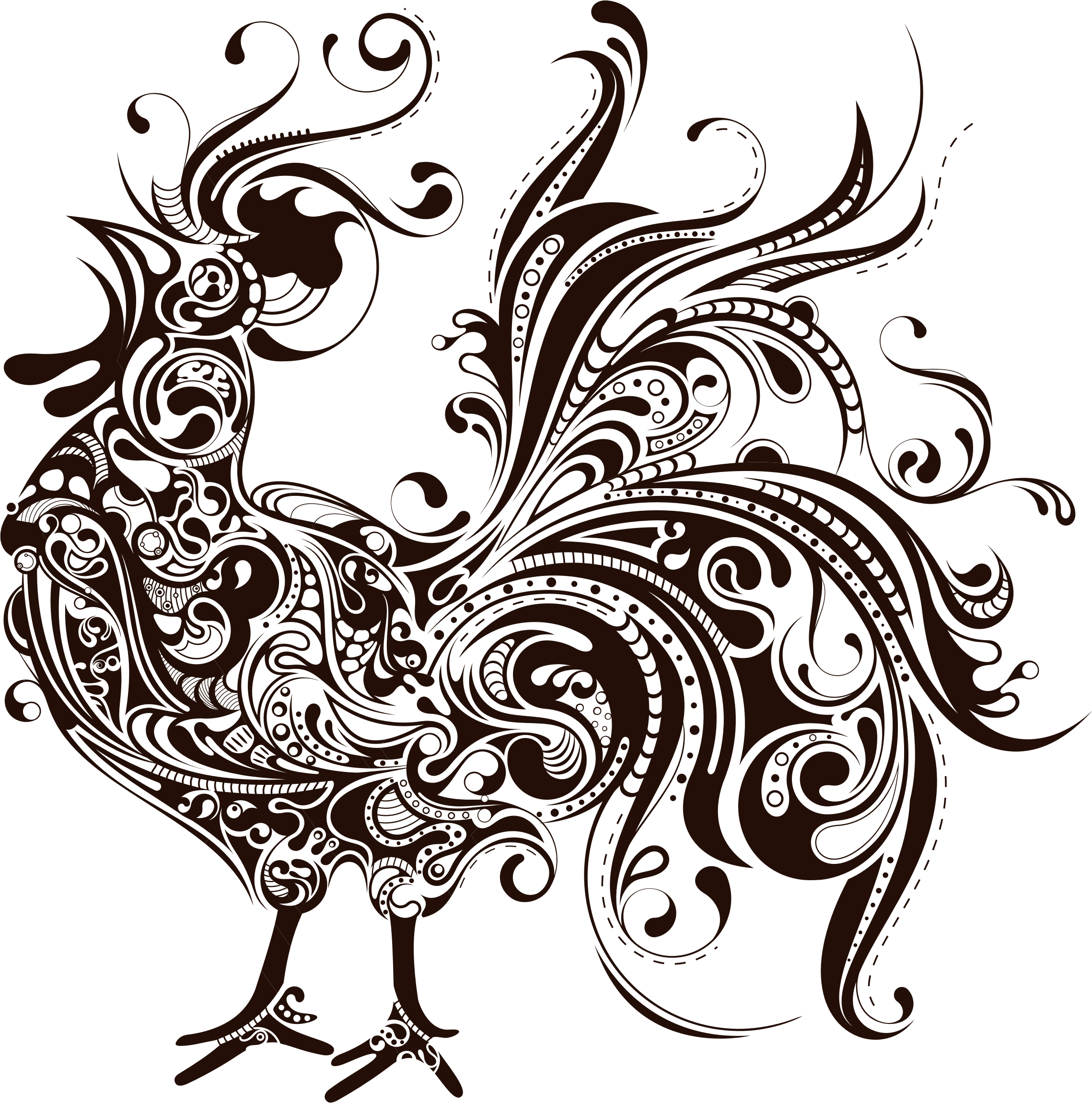 Compass clipart rooster. Silhouette clip art at