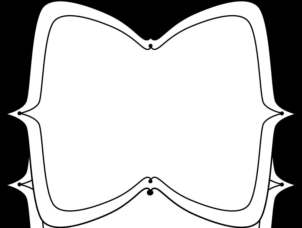 Square clipart curvy. Fun frame panda free
