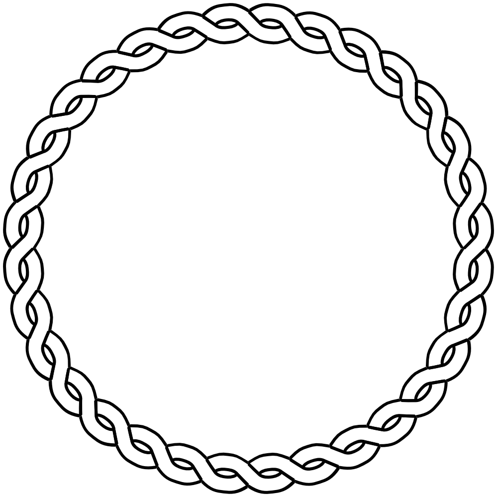 Clipart designs circle. Rope border dna black