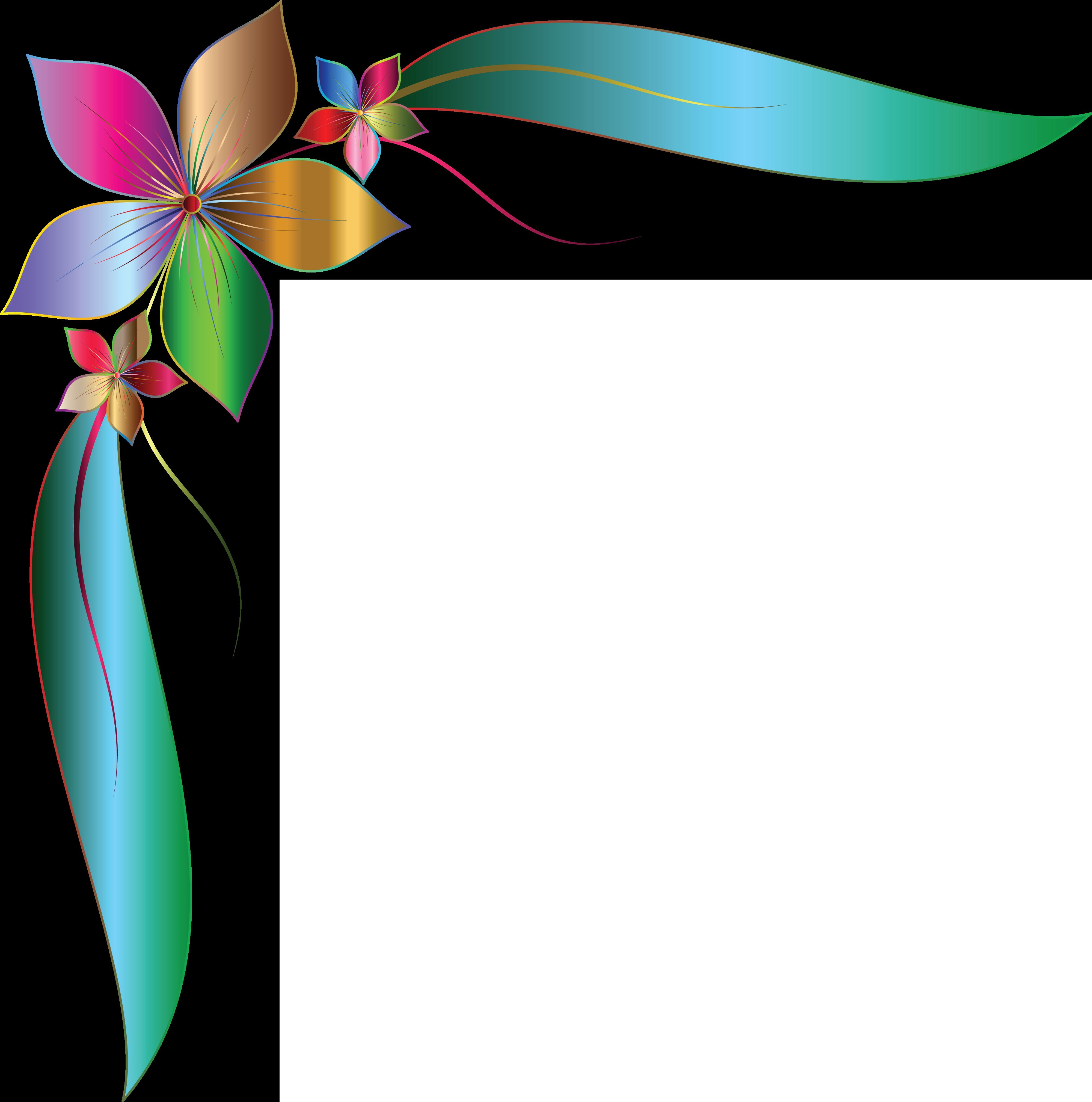 Corner transparent images pluspng. Flower design png